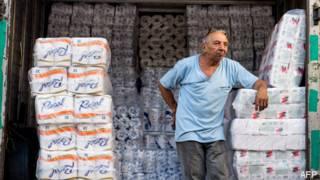 Escasez de papel higiénico en Venezuela