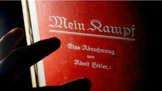 Red cover of Hitlers book