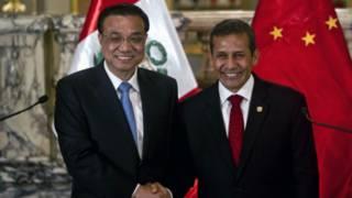 李克強與秘魯總統烏馬拉