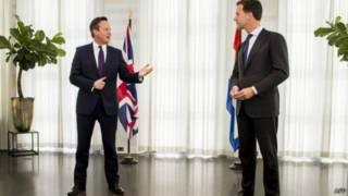 卡梅伦会见荷兰首相马克·吕特