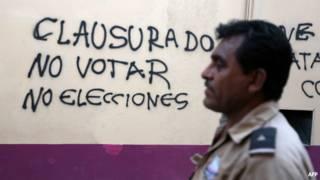 Protesta contra las elecciones en México