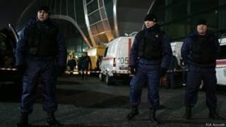 """у аэропорта """"Домодедово"""" после взрыва"""