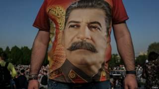 Портрет Сталина на майке