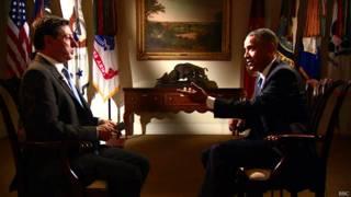 Tổng thống Obama trả lời phỏng vấn phóng viên BBC Jon Sopel