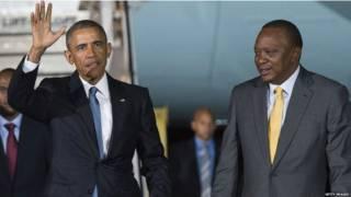 बराक ओबामा और उहरु केन्याटा