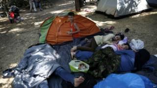 Лагерь для мигрантов под Афинами