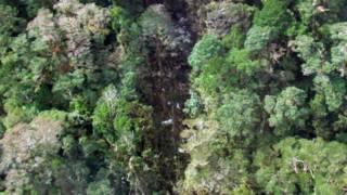 Hình ảnh chụp từ trên không nơi mảnh vụn máy bay văng ra