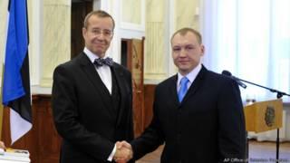 Кохвер с президентом Эстонии