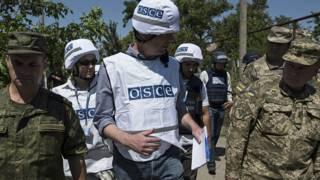Наблюдатели ОБСЕ на востоке Украины