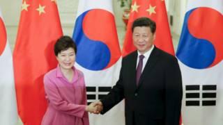 韓國總統朴槿惠與中國國家主席習近平(02/09/2015)