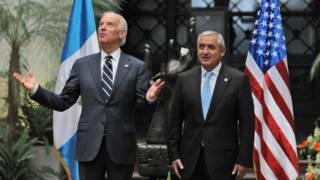 Jose Biden y Otto Pérez Molina