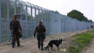 Барьер на венгерско-сербской границе