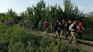क्रोएशिया पहुंचे प्रवासी