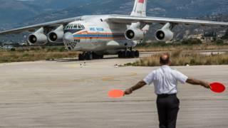 Российский грузовой самолет в Сирии