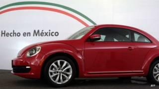 Automóvil Beetle fabricado en Puebla, México.