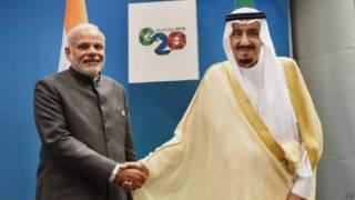 नरेंद्र मोदी और सऊदी के शाह सलमान