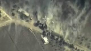 Территория удара авиации РФ в Сирии