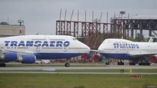 """Боинги 747-400 авиакомпании """"Трансаэро"""""""