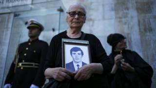 Мать погибшего грузинского солдата