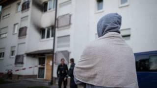 حريق في مسكن للاجئين في المانيا