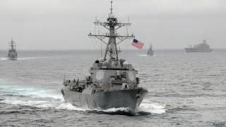 د امریکا توغندي ویجاړوونکې سمندري بېړۍ (لاسن) تېره اونۍ د ین سمندر سوېل کې د چین سمندري حریم ته ورننوتې وه