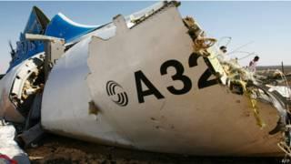 Обломки российского авиалайнера А321, разбившегося на Синайском полуострове 31 октября 2015 г.