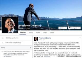 प्रेसीडेंट ओबामा फ़ेसबुक पेज