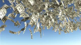Dólares cayendo del cielo