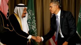 Barack Obama y el rey de Arabia Saudita