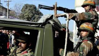 पठानकोट हमले के बाद भारतीय सुरक्षा बल