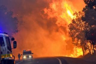 Тушение лесных пожаров на западе Австралии