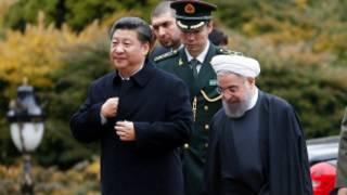 Shugaba Xi Jinping na China da Shugaba Hassan Rouhani na Iran