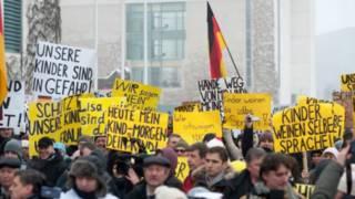 русские протесты в Берлине