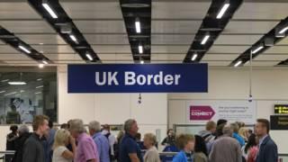Паспортный контроль в Великобритании