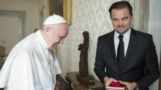 El papa Francisco reunido con Leonardo Dicaprio
