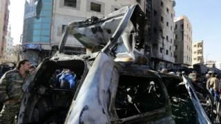 सीरिया में धमाके