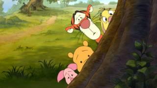 Una ilustración de Winnie the Pooh, versión Disney