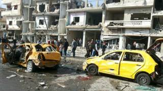 После взрыва в Хомсе
