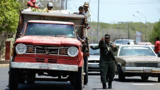 Camión varado en Venezuela