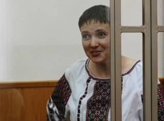 Надежда Савченко в суде