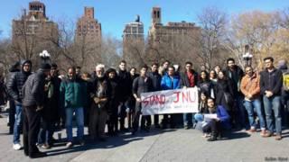 न्यूयॉर्क में विरोध प्रदर्शन