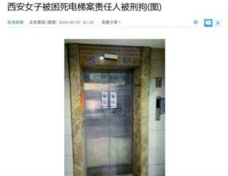 Imagen del ascensor de un edificio residencial en China