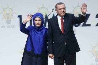 Президент Турции с женой