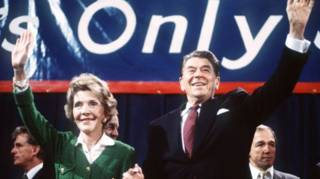 Nancy y Ronald Reagan