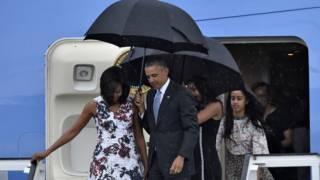 क्यूबा पहुचे ओबामा