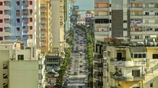 Албанский город у моря