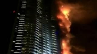 Пожар в небоскребе в ОАЭ