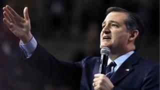Ted Cruz durante un mitin