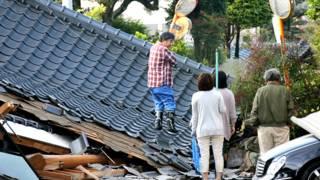 जापान में भूकंप के बाद का दृश्य.