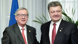 Жан-Клод Юнкер и петр Порошенко